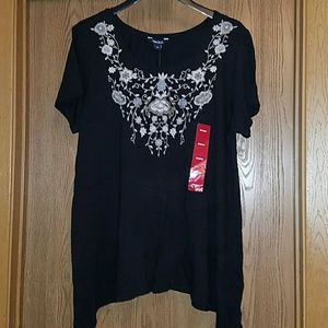 Black embroidered shirt (3 for $20)